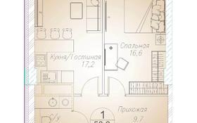1-комнатная квартира, 50.3 м², 5/10 этаж, Байтурсынова 177 за ~ 24.4 млн 〒 в Алматы, Бостандыкский р-н