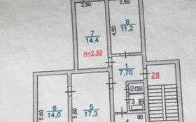4-комнатная квартира, 72.8 м², 5/5 этаж, мкр Центральный 10 — Махамбет Валиханова за 25 млн 〒 в Атырау, мкр Центральный
