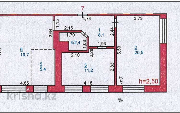 3-комнатная квартира, 67.3 м², 2/4 этаж, Лермонтова 45 — Академика Сатпаева за 12.3 млн 〒 в Павлодаре