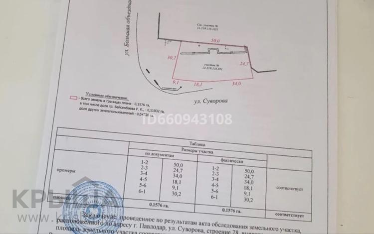 Участок 15.76 соток, Малай сары 78 за 12 млн 〒 в Павлодаре
