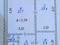 2-комнатная квартира, 56.2 м², 2/5 этаж