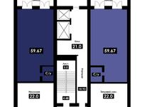 Магазин площадью 59.67 м²