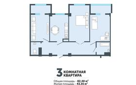 3-комнатная квартира, 82.48 м², 4/5 этаж, 160 квартал за ~ 19.4 млн 〒 в Туркестане
