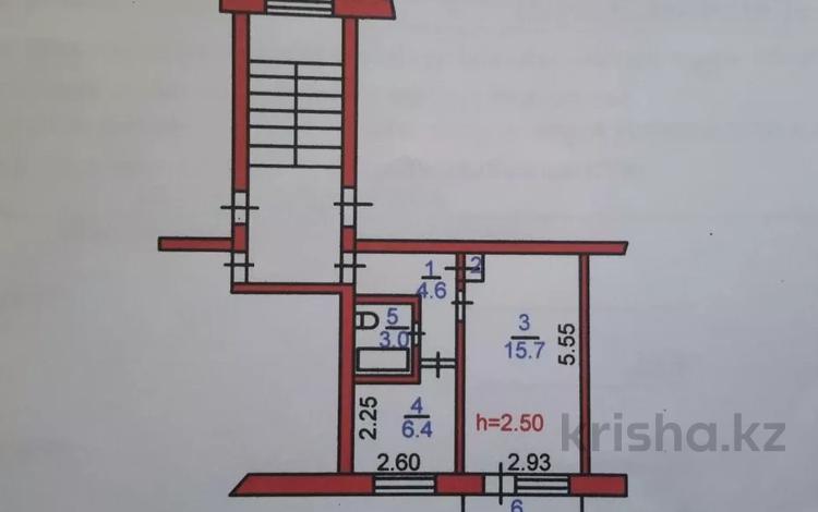 1-комнатная квартира, 31 м², 5/5 этаж, проспект Кобланды батыра 10 — Кубеева за ~ 6.7 млн 〒 в Костанае