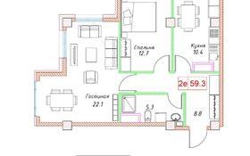 2-комнатная квартира, 59.3 м², 6/10 этаж, Шевченко 96 — Наурызбай Батыра за ~ 35.6 млн 〒 в Алматы, Алмалинский р-н