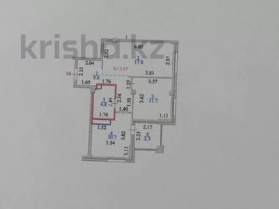 2-комнатная квартира, 58 м², 4/9 этаж, проспект Улы Дала 25 за 25 млн 〒 в Нур-Султане (Астана), Есильский р-н — фото 13