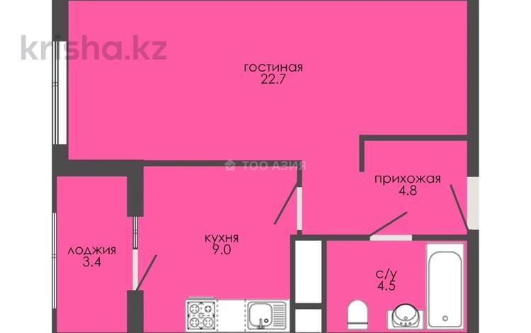 1-комнатная квартира, 42.7 м², 3/9 этаж, Е 127 ул 29/1 — Е 128 за ~ 12 млн 〒 в Нур-Султане (Астана), Есиль р-н
