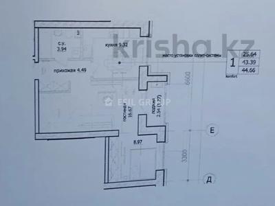 2-комнатная квартира, 44.66 м², 5/10 этаж, К. Мухамедханова за 14.8 млн 〒 в Нур-Султане (Астана), Есиль р-н — фото 3