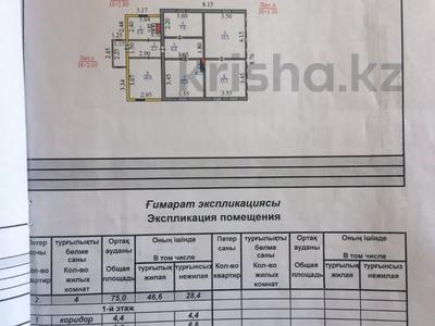 4-комнатный дом, 75 м², 16 сот., Войнов за 6.5 млн 〒 в Караганде, Октябрьский р-н