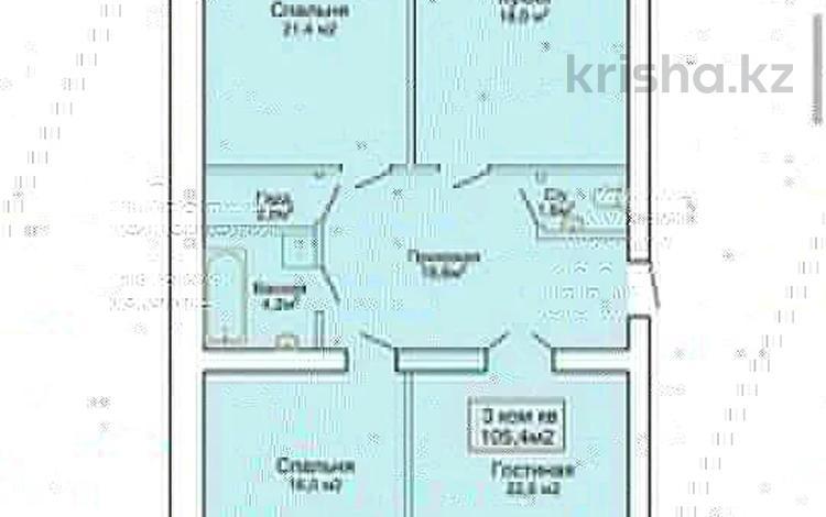 3-комнатная квартира, 105.4 м², Мкр Батыс-2 за ~ 13.2 млн 〒 в Актобе, мкр. Батыс-2