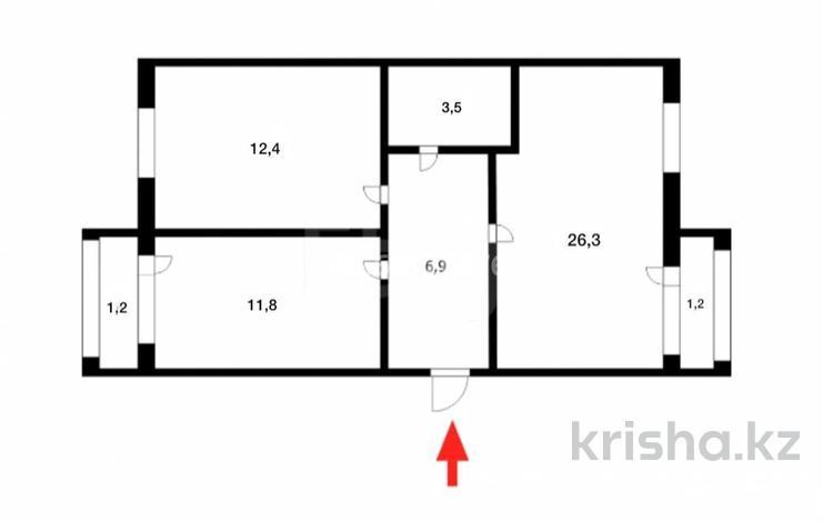 2-комнатная квартира, 63.3 м², 5/5 этаж, Лесная поляна за 20 млн 〒 в Нур-Султане (Астана)
