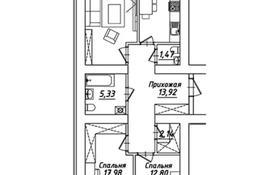 3-комнатная квартира, 84.69 м², 3/12 этаж, Айтматова — Е164 за ~ 23.7 млн 〒 в Нур-Султане (Астане), Есильский р-н