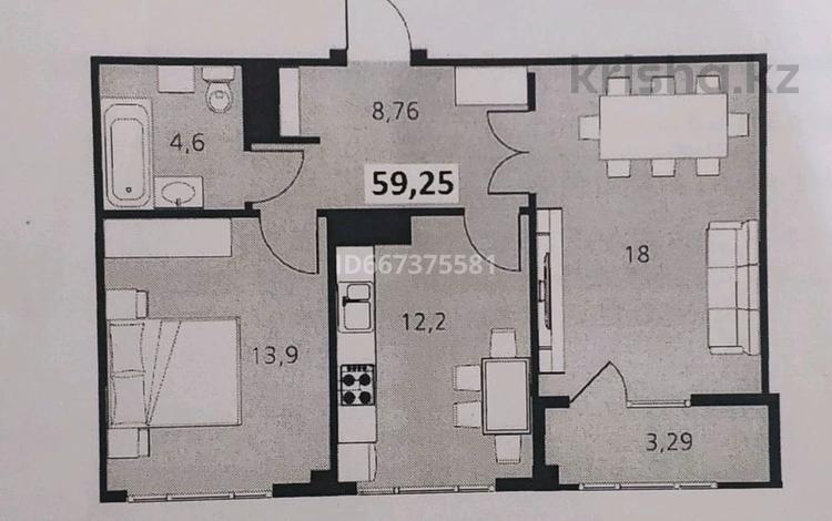 2-комнатная квартира, 59.5 м², 2/7 этаж, Туркестан 16/1 за 31.5 млн 〒 в Нур-Султане (Астане), Есильский р-н