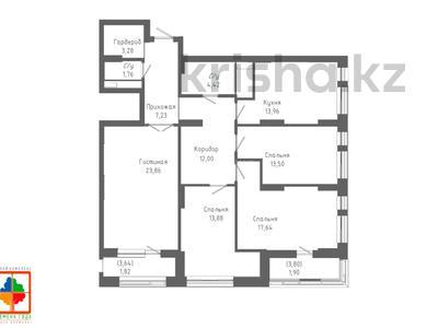 4-комнатная квартира, 117.15 м², 13/24 этаж, Қабанбай батыр 48/5 за ~ 39.4 млн 〒 в Нур-Султане (Астана), Есиль р-н — фото 6