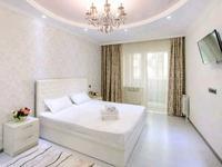 2-комнатная квартира, 75 м², 12/18 этаж посуточно, Навои 208 — Торайгырова за 16 000 〒 в Алматы, Бостандыкский р-н