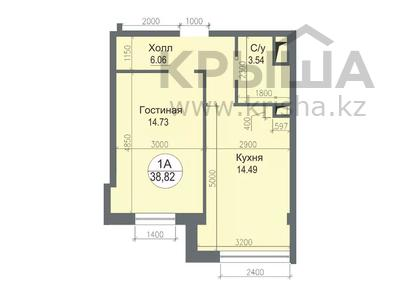 1-комнатная квартира, 38.82 м², 16-й мкр , д. 10/4 за ~ 6.6 млн 〒 в Актау, 16-й мкр  — фото 2