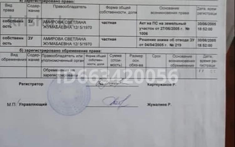 Участок 0.1 га, Абая кунаебаева 131 за 1 млн 〒 в