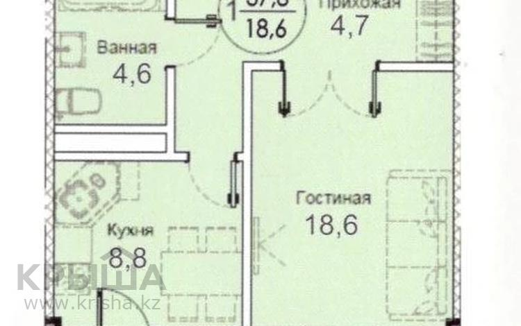 1-комнатная квартира, 39 м², 5/9 этаж, Карталинская за ~ 8.2 млн 〒 в Нур-Султане (Астана), Сарыарка р-н