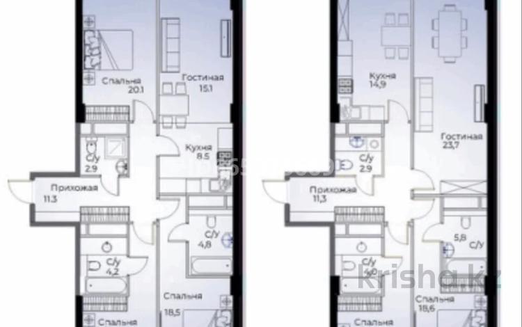 3-комнатная квартира, 113 м², 6/10 этаж, Байтурсынова 177 — Тимирязева за 60 млн 〒 в Алматы, Бостандыкский р-н