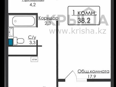 1-комнатная квартира, 38.2 м², 10/12 этаж, Махтумкули 3/51 за ~ 10.9 млн 〒 в Нур-Султане (Астана), Алматы р-н
