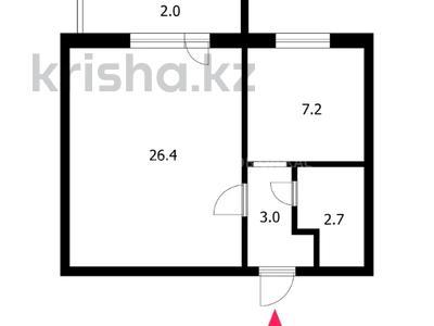 1-комнатная квартира, 41.3 м², 7/9 этаж, Кошкарбаева 23 за 14 млн 〒 в Нур-Султане (Астана), Алматы р-н — фото 22