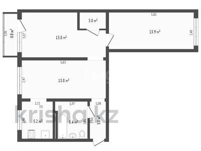 3-комнатная квартира, 59.3 м², 4/5 этаж, Алимжанова за ~ 22.5 млн 〒 в Алматы, Медеуский р-н — фото 10