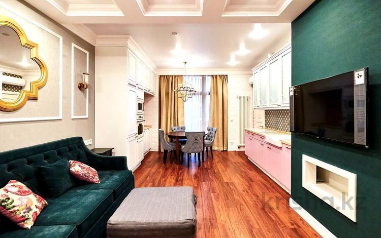 2-комнатная квартира, 78 м², 5 этаж помесячно, Сауран 18 за 200 000 〒 в Нур-Султане (Астана), Есиль р-н