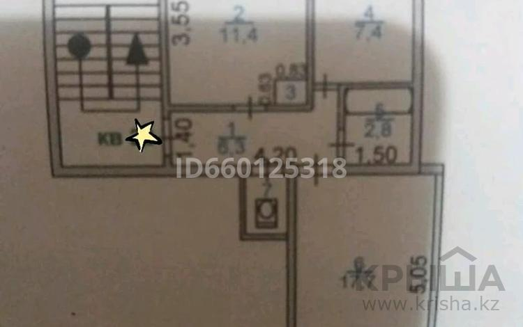 2-комнатная квартира, 51.2 м², 5/5 этаж, 3-й микрорайон 26 за 1.6 млн 〒 в Каратау
