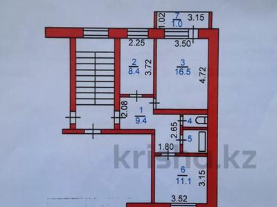 2-комнатная квартира, 50.1 м², 6 этаж, Ворошилова 74 за ~ 8.7 млн 〒 в Костанае