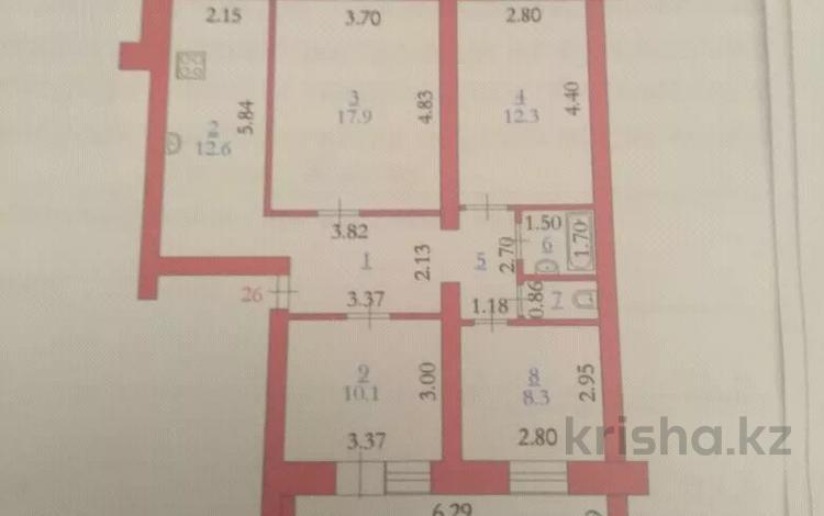 4-комнатная квартира, 80 м², 3/5 этаж, Пожарского за 13 млн 〒 в Актобе