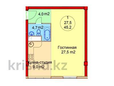 1-комнатная квартира, 45.2 м², мкр Айнабулак-2, Палладина (Айнабулак 2-й мкрн) 85 за ~ 10.8 млн 〒 в Алматы, Жетысуский р-н — фото 2