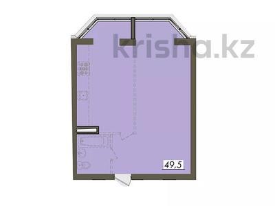 1-комнатная квартира, 49.5 м², мкр Думан-2, мкр Думан-2 25 за ~ 14.3 млн 〒 в Алматы, Медеуский р-н — фото 2