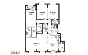 4-комнатная квартира, 153 м², 3/7 этаж, Шамши Калдаякова 4/1 за 92 млн 〒 в Нур-Султане (Астана), Алматы р-н