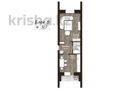 1-комнатная квартира, 52.7 м², мкр Батыс 2 49Д за ~ 7.8 млн 〒 в Актобе, мкр. Батыс-2 — фото 2