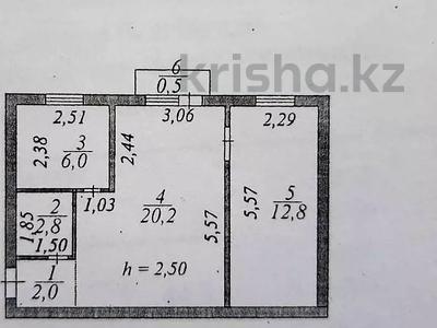 2-комнатная квартира, 45 м², 3/5 этаж, Бейбитшилик 30 — проспект Богенбай батыра за 12.8 млн 〒 в Нур-Султане (Астана), Сарыарка р-н — фото 5