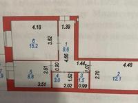 2-комнатная квартира, 50.1 м², 8/9 этаж