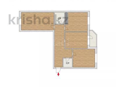 3-комнатная квартира, 80 м², 1/9 этаж, Ханов Керея и Жанибека 9 за 26 млн 〒 в Нур-Султане (Астана), Есиль р-н — фото 2