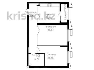 2-комнатная квартира, 65.71 м², 2 этаж, Розыбакиева 320 за ~ 34.7 млн 〒 в Алматы, Бостандыкский р-н