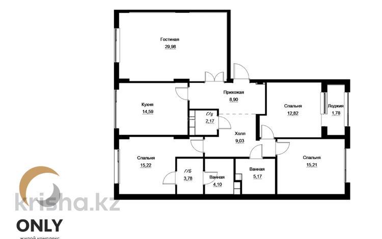 4-комнатная квартира, 123.65 м², Манглик Ел за ~ 47.3 млн 〒 в Нур-Султане (Астана), Есиль р-н