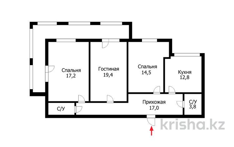 3-комнатная квартира, 90 м², 4/6 этаж, Шарбакты 12/5 за 28.8 млн 〒 в Нур-Султане (Астана), Алматы р-н