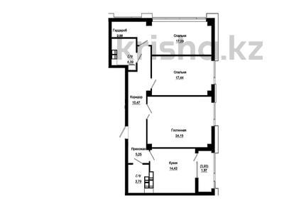 3-комнатная квартира, 102.97 м², 16/18 этаж, Е-10 17л за ~ 39.6 млн 〒 в Нур-Султане (Астана), Есиль р-н — фото 17