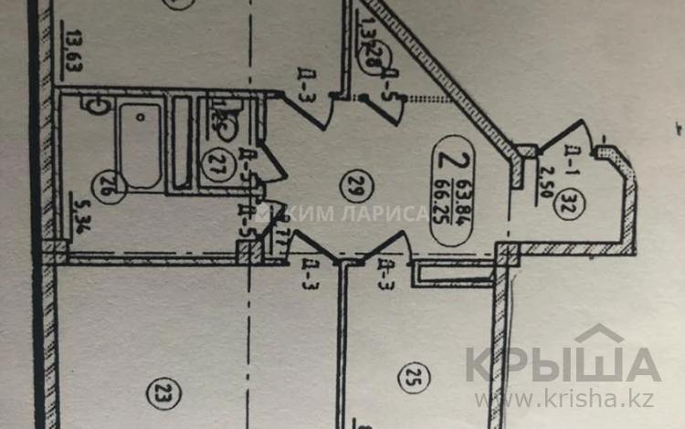 2-комнатная квартира, 67 м², 9/14 этаж, Е 12 за 18.5 млн 〒 в Нур-Султане (Астана), Есиль р-н