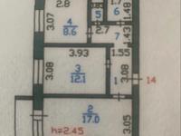 2-комнатная квартира, 52 м², 4/5 этаж, 20 микрорайон 2 за 18.5 млн 〒 в Петропавловске