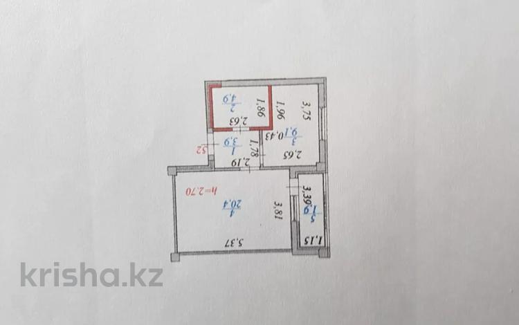 1-комнатная квартира, 41 м², 6/8 этаж, Улы Дала 27/3 — Тауелсиздик за 16.5 млн 〒 в Нур-Султане (Астана), Есиль р-н