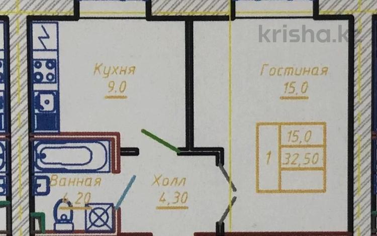1-комнатная квартира, 32.5 м², 8/12 этаж, проспект Тауелсиздик 34/9 за ~ 8.8 млн 〒 в Нур-Султане (Астане), Алматы р-н