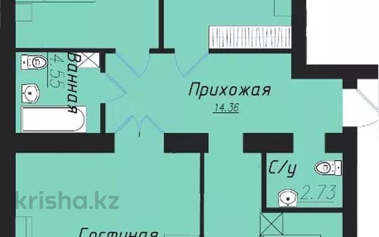 3-комнатная квартира, 102.4 м², 8/9 этаж, Сабатаева 77а — Зарапа Темирбекова за ~ 29.2 млн 〒 в Кокшетау
