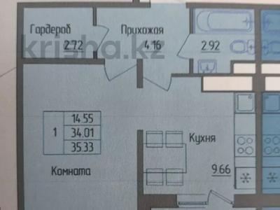 1-комнатная квартира, 35 м², 6/17 этаж, Е49 — Керей и Жанибек хандар за ~ 14 млн 〒 в Нур-Султане (Астана), Есиль р-н