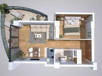 2-комнатная квартира, 65.06 м², 2/12 этаж