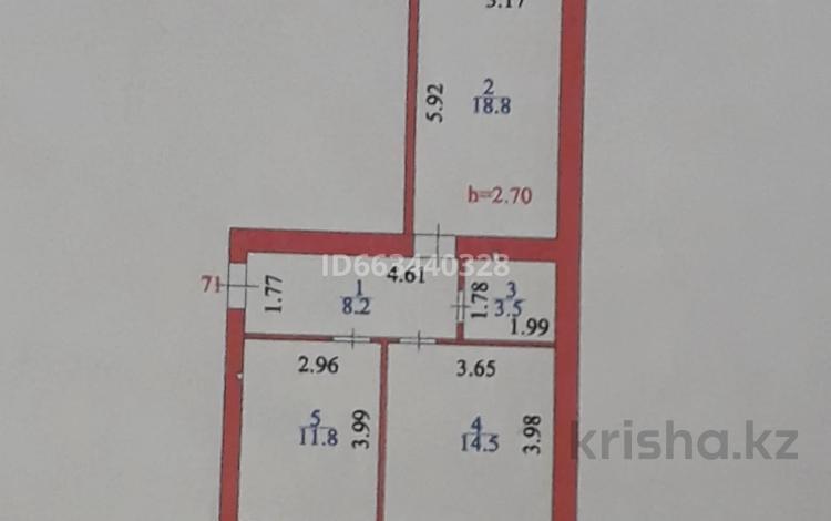 2-комнатная квартира, 60 м², 10/10 этаж, Бокейхана — Бухар Жырау за 26 млн 〒 в Нур-Султане (Астана), Есиль р-н