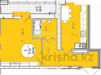 1-комнатная квартира, 51.4 м², Ахмета Байтурсынова за ~ 10.5 млн 〒 в Нур-Султане (Астана), Алматы р-н — фото 11